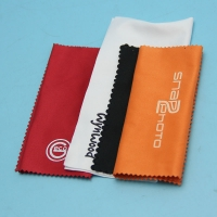China Custom business logo Microfiber Material print jewelry cloths for cleaning on sale