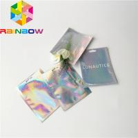 Buy cheap Clear Front Foil Pouch Packaging Custom Hologram Rainbow Foil Smell Proof Mylar Bag from wholesalers