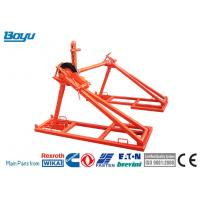 Buy cheap Red Overhead Line Stringing Tools Mechanical Drum Elevators Drum Hole 76mm from wholesalers