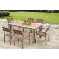 Buy cheap Outdoor Poly Wood Furniture Plastic Wood Dining Set (BZ-P018) from wholesalers
