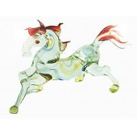 Buy cheap 10CM Horse Figurine , Handmade Lampwork Glass Animals For Engagement Gift from wholesalers