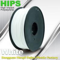 Wholesale Custom White HIPS 3D Printer Filament 1.75mm / 3mm , Reusable 3D Printing Material from china suppliers