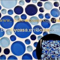 Wholesale Blue Round Mosaic Tile from china suppliers