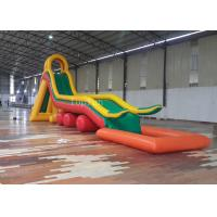 Wholesale Giant Commercial 17mL Pool Water Slide 17 * 3 * 5m Hoilday Use Beach Slide from china suppliers