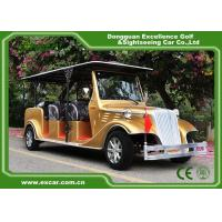 Buy cheap Luxurious Golden Classic Car Golf Carts 6 Person Whole Metal Body from wholesalers