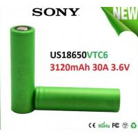 SONY VTC6 18650 3000mAh 3.6V Electronic Cigarette battery, discharge 30A High Drain Recharge battery Manufactures