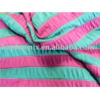 Buy cheap 80%Polyester 15% Viscose 5% Spandex Yarn dyed stripe knitted fabric from wholesalers