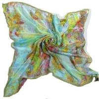 Buy cheap Digital Printing Silk Square Scarf (HP-C02) from wholesalers