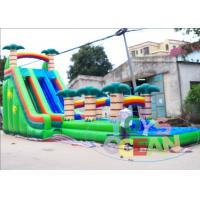 Buy cheap High Giant Tropical Coconut Tree Inflatable Water Slide With Pool Two Lane from wholesalers