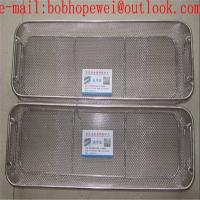 Buy cheap medical storage wire mesh basket/instrument basket/sterilization tray medical fine wire mesh basket with lid and handle from wholesalers