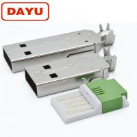 Buy cheap Easy Solder Micro Usb Male Connector , Male Crimp Connector With USB Housing from wholesalers