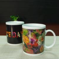 Buy cheap Souvenir gift  Rose flowers color changing coffee mugs white porcelain from wholesalers