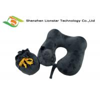 Buy cheap Logo Weaved Inflatable Travel Pillow , U Shape Velvet Inflatable Air Pillow from wholesalers