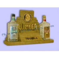 Cardboard Led Lighted Polyresin Liquor Bottle Display For Advertising Manufactures