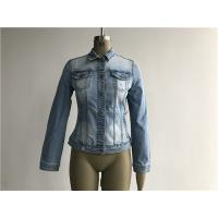 Buy cheap Light Wash Ladies Denim Jacket / Button Through Trucker Jacket TW79170 from wholesalers