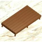 Buy cheap Teak wood shower mat from wholesalers