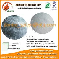 Buy cheap Aluminum foil fiberglass cloth ,foil faced fiberglass duct insulation from wholesalers