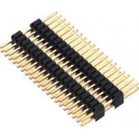 Wholesale 1.27mm Pin Header Connector Dual Row Double Plastic PA9T Black Pcb Pin Connector from china suppliers