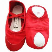 Buy cheap Dance Shoes, Made of Cotton Fabric or Artificial Leather, Available in Various Designs from wholesalers
