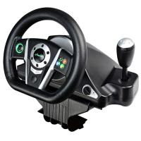 video game steering wheel gaming racing car wheel with foot pedal for PC, PC360(X-INPUT node in PC), PS2, PS3 Manufactures