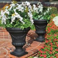 Buy cheap 18 Classical Flower Pot, Antique White Color, Made of Resin, OEM Service/Customized Design Welcomed from wholesalers