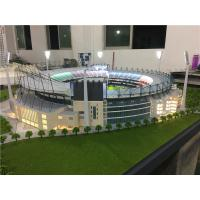 Buy cheap Ho scale maquette stadium with light, miniature football stadium model from wholesalers