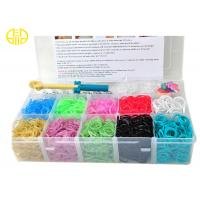 Buy cheap Multi Color Rainbow Loom Rubber Band  refill With Plastic Container from wholesalers