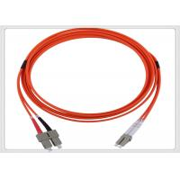 Buy cheap PVC Sheath Sc Lc Fiber Patch Cord Orange Fiber Optic Patch Leads from wholesalers