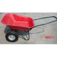Buy cheap wb6211 wheelbarrow wheel barrow hand trolley garden tool cart dump rubber wheel from wholesalers