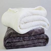 China Custom Double Ply Sherpa Flannel Plush Blanket For Hotel / Home / Office Throws on sale