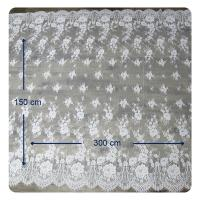 Wholesale Eco - Friendly Dyeing Wedding Dress Chantilly Lace Fabric , Ivory Repeated Floral from china suppliers