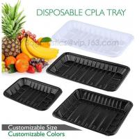 Buy cheap PLA plate best selling prodcts, biodegradable PLA dinner plate for restaurant use, pla food box for meat from wholesalers