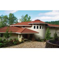 Corrugated Double Roman red / brown Low Pitch Roof Tiles , Wave roofing shingle