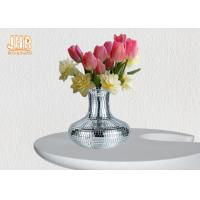 Buy cheap Decorative Silver Mosaic Glass Polystone Centerpiece Table Vase Flower Pots from wholesalers