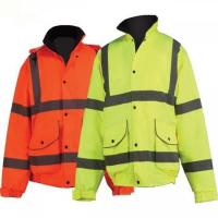 Buy cheap Breathable High Visibility Reflective Jacket Fleece Lined Collar Qulited Lining from wholesalers
