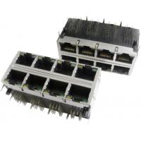 Buy cheap 2x6 Multi-port Modular Jack RJ45 with transformer, shielded with EMI fingers, built-in LED from wholesalers