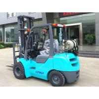 Buy cheap Dual Front Tires Sit Down Propane Forklift Indoors With 6000mm Triplex Mast from wholesalers