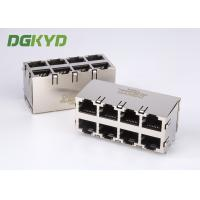 Wholesale Customised 2X4 dual deck RJ45 multiple port connectors female 8 Port ethernet socket from china suppliers