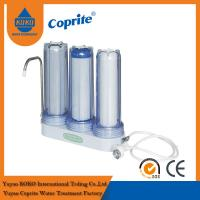 Buy cheap Triple Filtration Three Stage Countertop Household Water Filter PP Activated Carbon from wholesalers