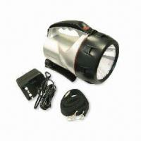 Buy cheap Adjustable Handheld Spotlight with Halogen Bulb and Rechargeable Lead-acid Battery, Water-resistant from wholesalers