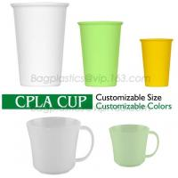 Buy cheap CPLA reusable cup and lid with injection molding, take out PLA degradable cups, hot beveragePLA cups from wholesalers