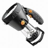 Buy cheap 3W rechargeable handheld spotlight with 5 LED lantern from wholesalers
