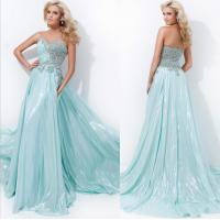 Light Green Strapless Sweetheart party dresses / heart shaped prom dresses long LXLSQ-1789 Manufactures