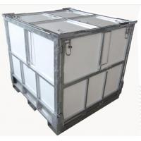 China 1000L Steel Folding IBC Intermediate Bulk Container With Coated PP Panel on sale