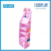 Buy cheap Cardboard floor display stand for cosmetics boxes for sales from wholesalers