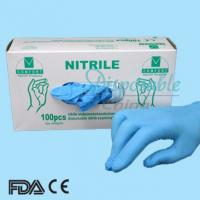 Buy cheap Disposable nitrile glove/blue nitrile glove/exam nitrile glove from wholesalers