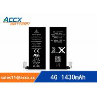 Wholesale ACCX brand new high quality li-polymer internal mobile phone battery for IPhone 4G with high capacity of 1430mAh 3.7V from china suppliers