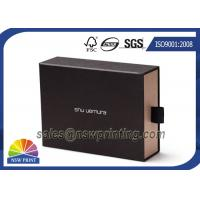 Buy cheap Soft Touch Film Laminated Cardboard Drawer Style Rigid Box with Cotton Handle from wholesalers