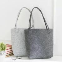 Wholesale Free Sample Lowest MOQ High Quality Big Tote Bag Shopping Felt Handbags. size is 35cm*30cm 2mm microfiber material. from china suppliers