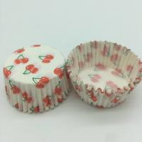 Buy cheap Cherry Pattern Greaseless Cupcake Liners , Muffin Cake Paper Cups For Children Party product